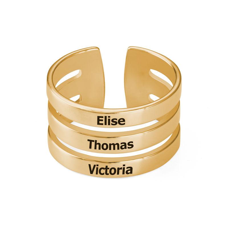 Three Name Ring in Vermeil - 1