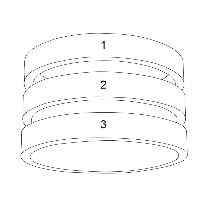 Three Name Ring in Vermeil - 7