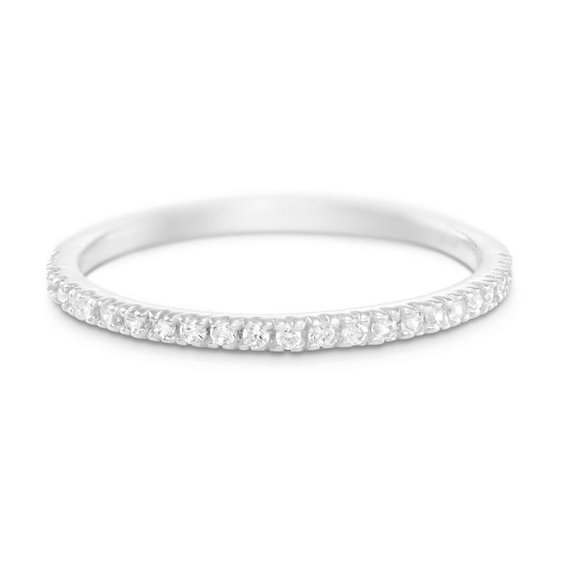 Delicate Sterling Silver Cubic Zirconia Ring