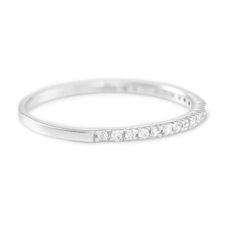 Delicate Sterling Silver Cubic Zirconia Ring - 1