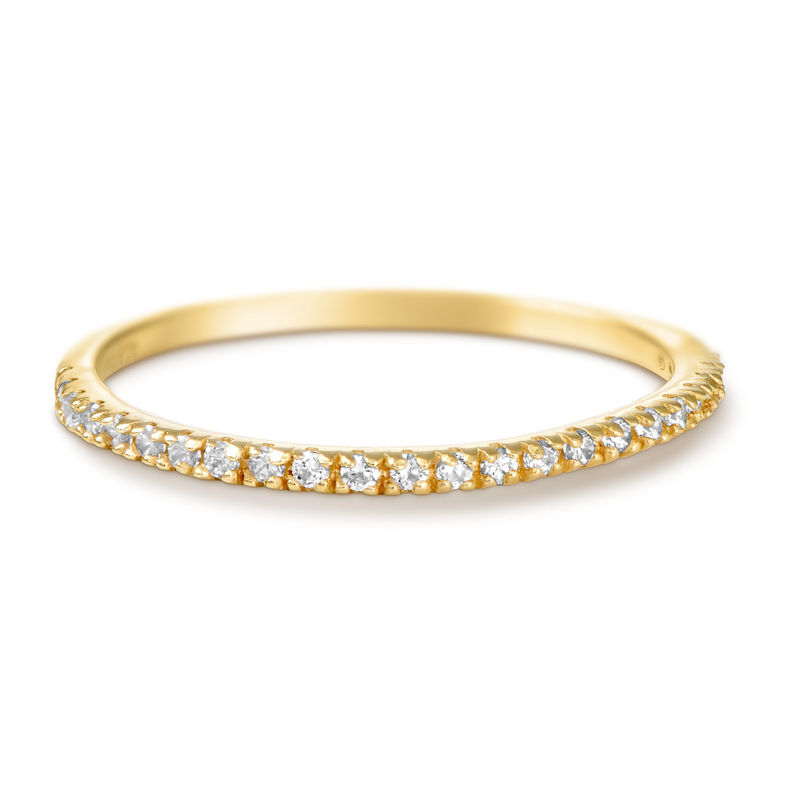 Delicate Gold Plated Cubic Zirconia Ring