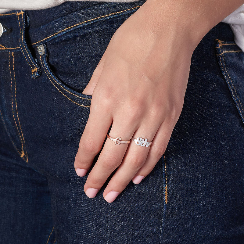 Personalized Number Ring in Sterling Silver - 3