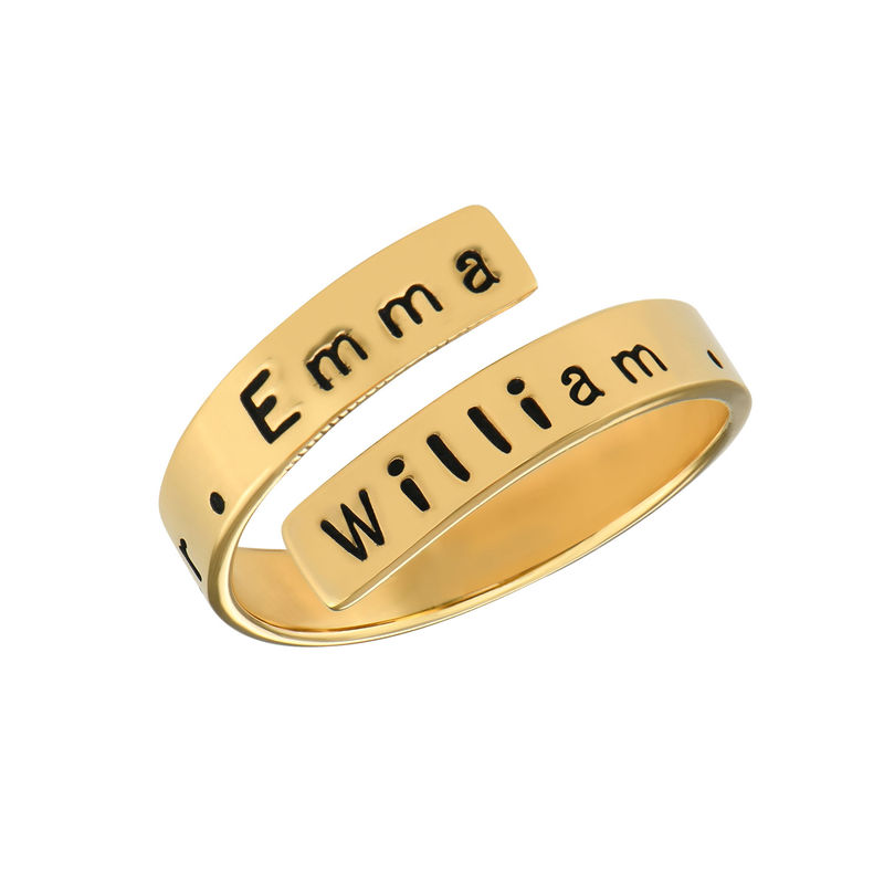 Engravable Ring Wrap in Gold Plating