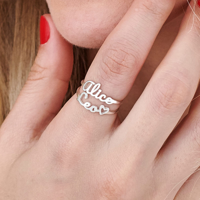 Script Name Ring in Silver - 6
