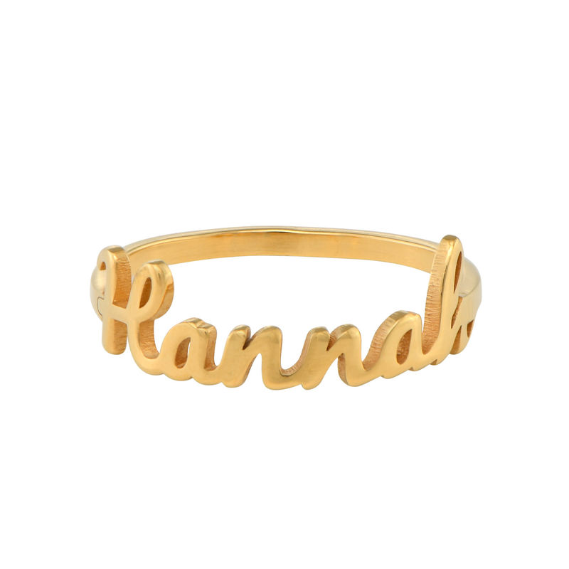 Script Name Ring in Gold Plating - 1
