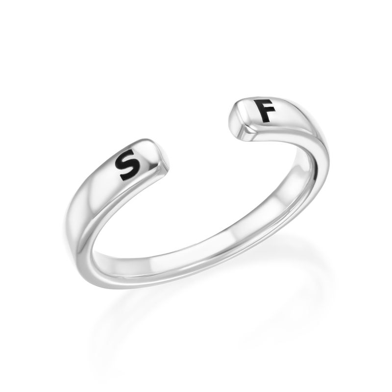 Custom Stacking Open Ring in Sterling Silver