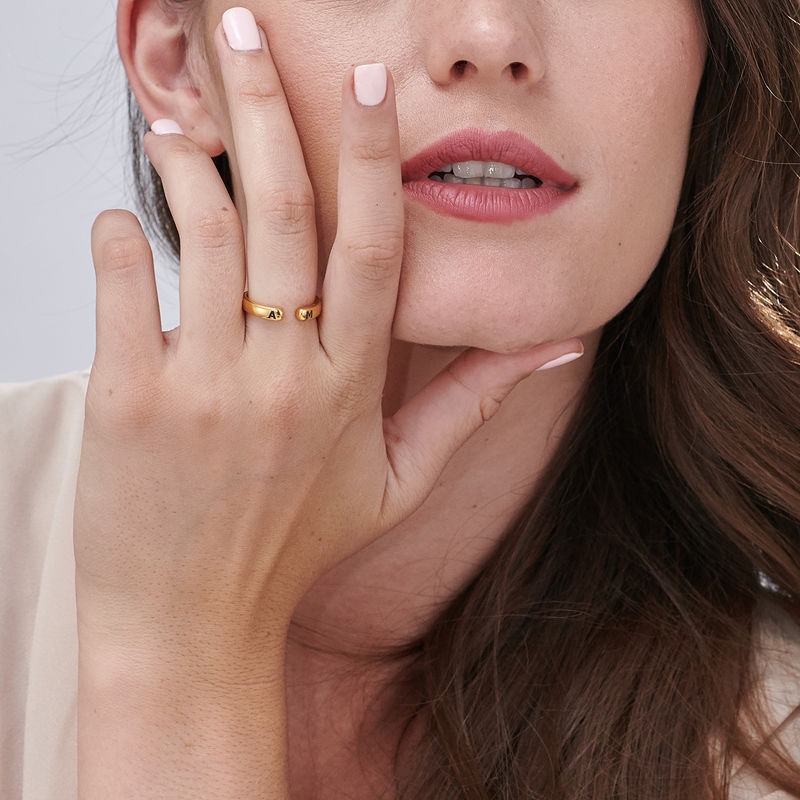 Custom Stacking Open Ring in Gold Plating - 7