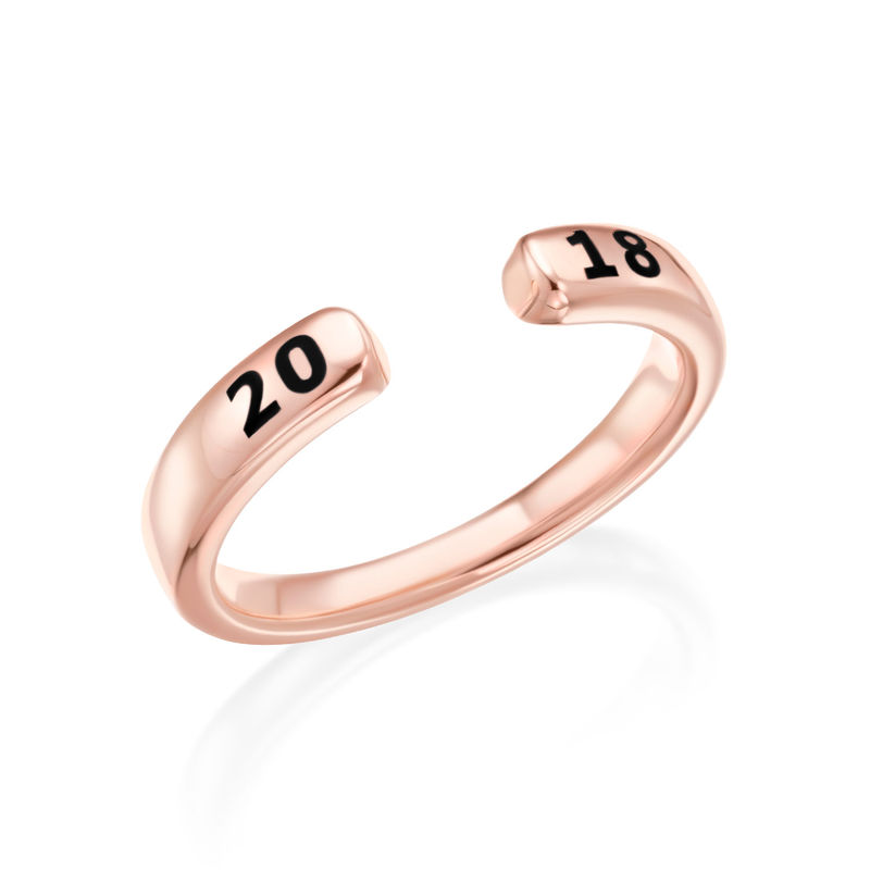 Custom Stacking Open Ring in Rose Gold Plating