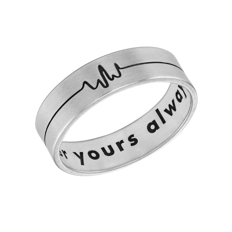 Heart Beat Couple's Rings - Man Ring