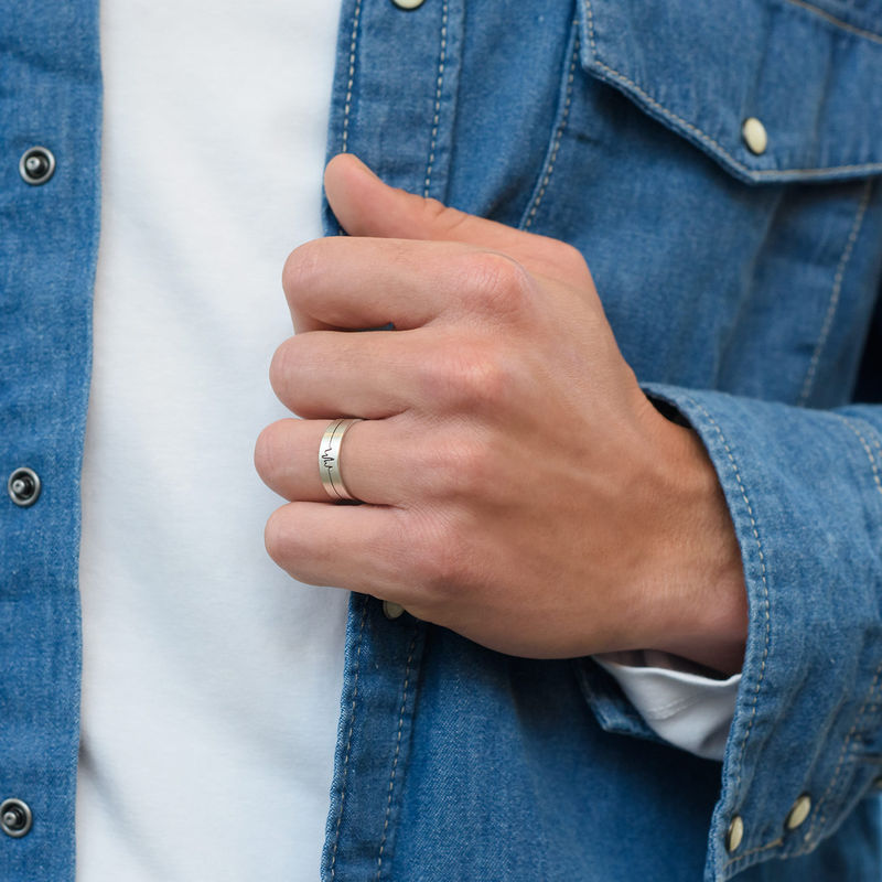 Heart Beat Couple's Rings - Man Ring - 1