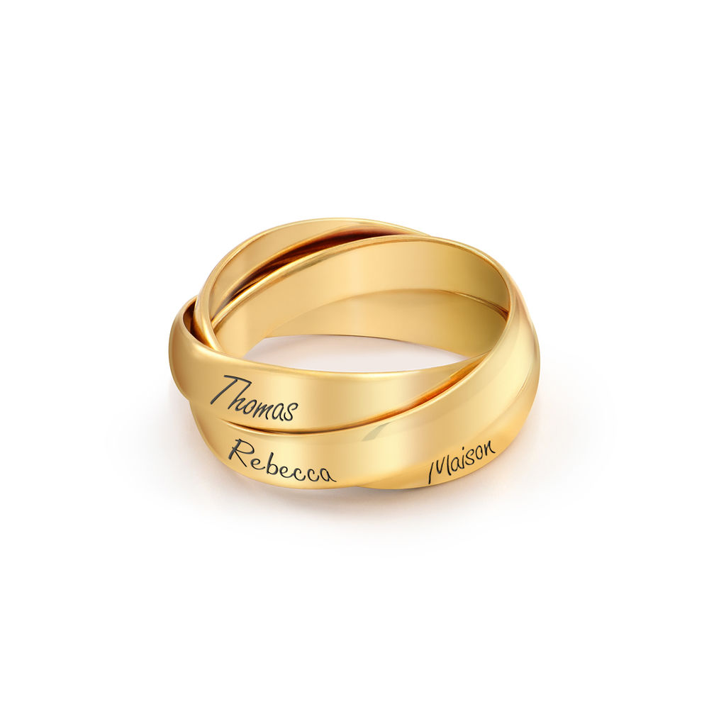 Charlize Russian Ring in Gold Plating