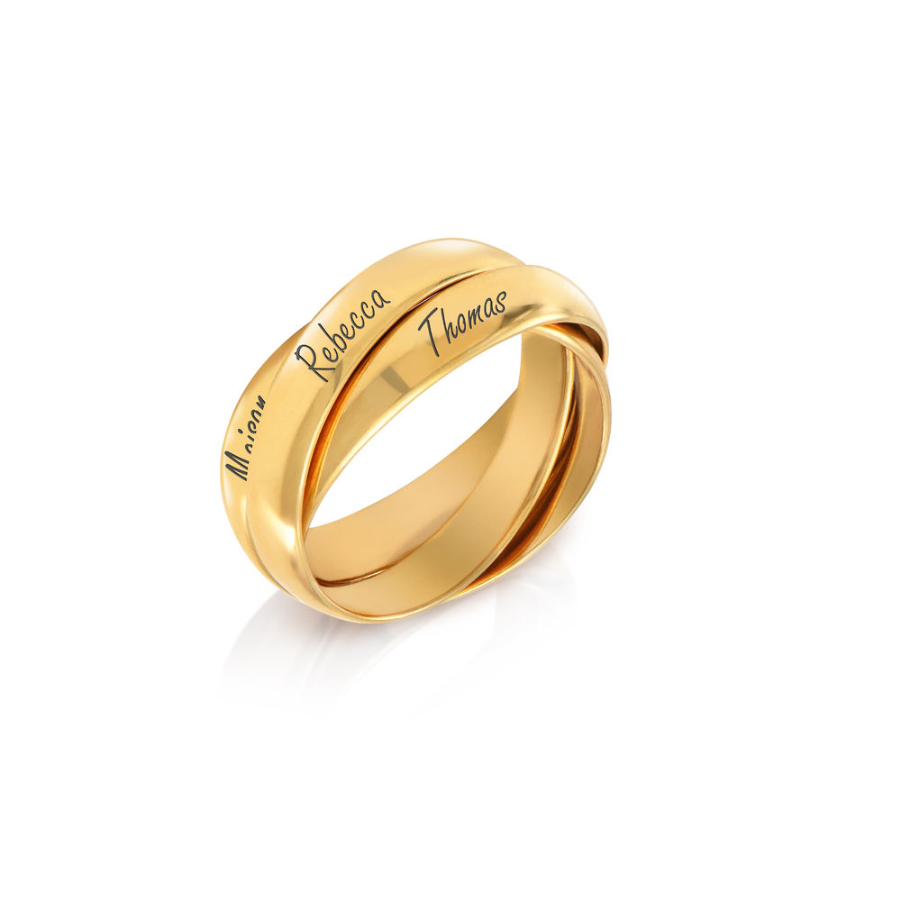 Charlize Russian Ring in Gold Plating - 1