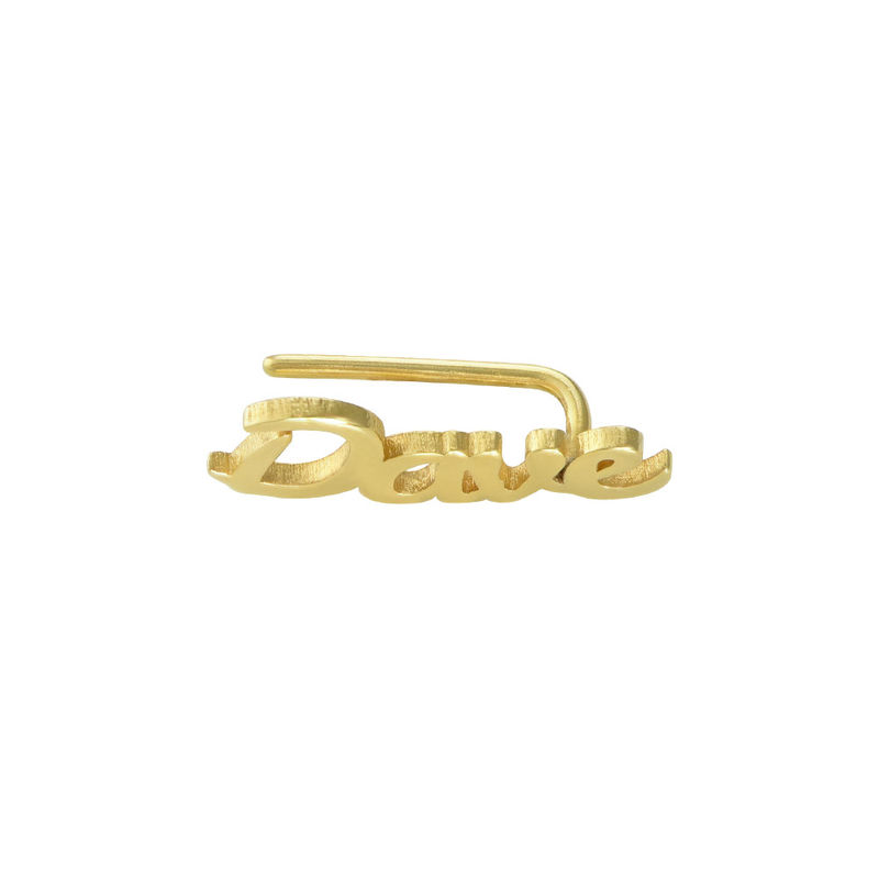 Personalized Ear Climbers with 18K Gold Plating - 1