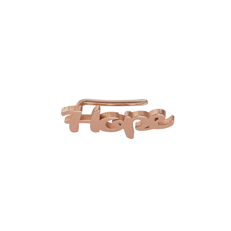 Personalized Ear Climbers with 18K Rose Gold Plating - 1