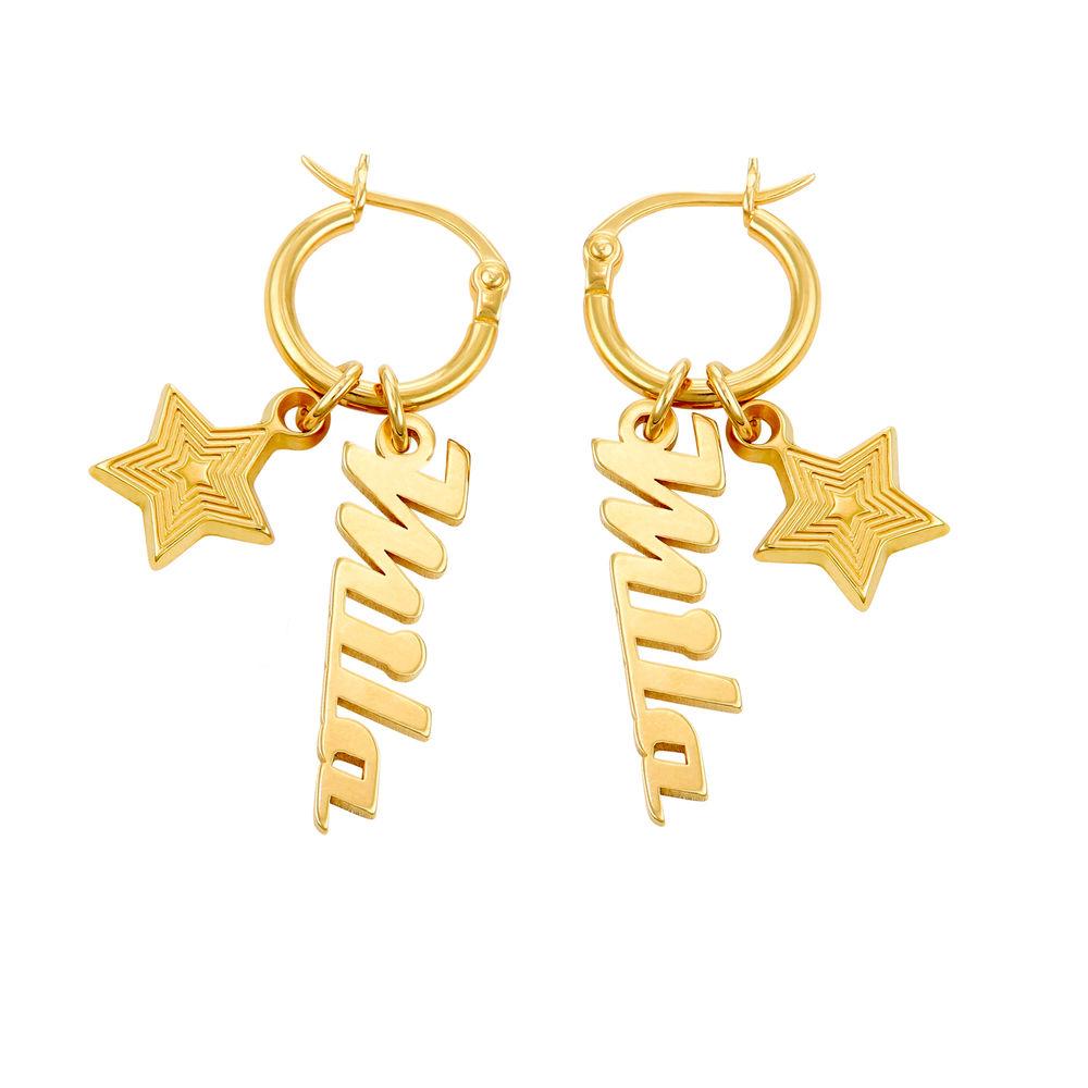 Siena Drop Name Earrings in 18k Gold Plating