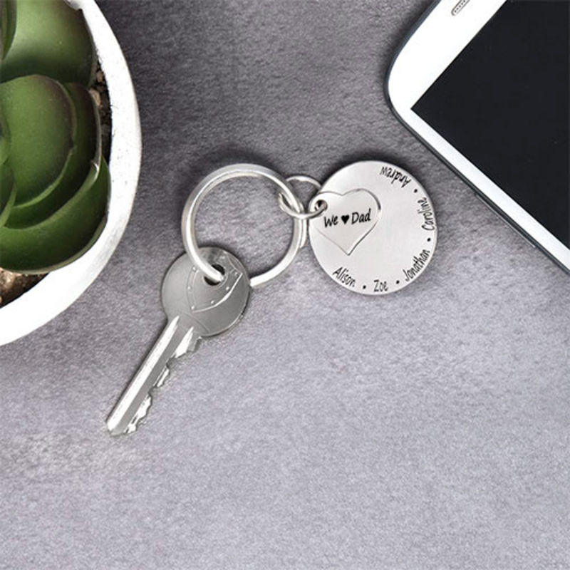 Family Forever Engraved Keychain - 2
