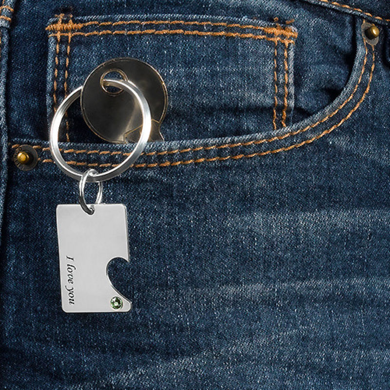 Couples Dog Tag Keychain Set - 3
