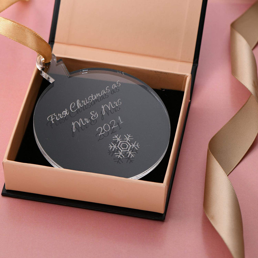 Personalized Holiday Ornament with Snowflake