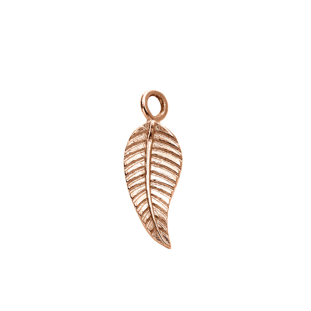 Leaf Charm in Rose Gold Plating for Linda Necklace