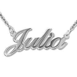 Sterling Silver Classic Name Necklace product photo