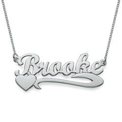 Silver Heart Name Necklace product photo