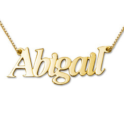 Personalized Double Thickness 14k Gold Name Necklace product photo