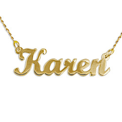 14k Gold Script Style Name Necklace product photo