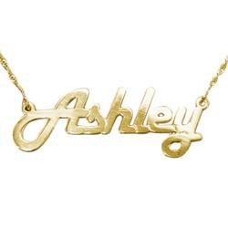 Stylish 14k Yellow Gold Name Necklace product photo