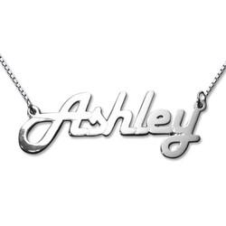 Stylish 14k White Gold Name Necklace product photo