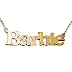 Solid 14k Gold Block Letters Name Pendant product photo