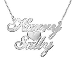 Silver Two Names & Heart Pendant product photo