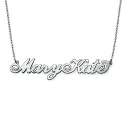 Two Capital Letters Sterling Silver Carrie-Style Name Necklace product photo