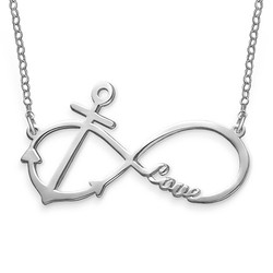 Personalized Infinity Anchor Necklace product photo