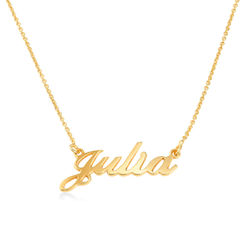 Small 18k Gold-Plated Silver Classic Name Necklace product photo