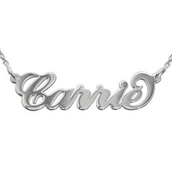 Sterling Silver Carrie-Style Name Necklacewith Rollo Chain product photo