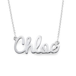 Sterling Silver Cursive Name Necklace product photo