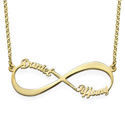 Infinity Name Necklace in Gold Plating product photo