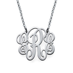 Fancy Sterling Silver Monogram Necklace product photo