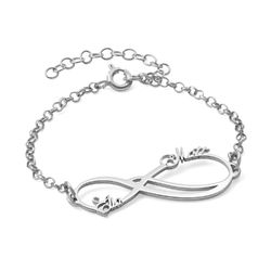 Infinity 2 Names Bracelet product photo
