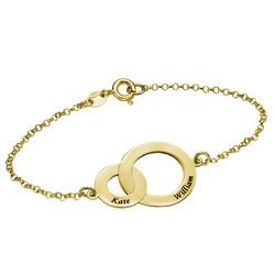 Interlocking Circles Bracelet - Gold Plated product photo
