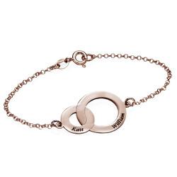 Interlocking Circles Bracelet - Rose Gold Plated product photo