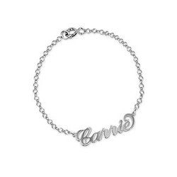 Sterling Silver Carrie-Style Name Bracelet / Anklet product photo