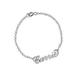 Silver and Crystal Name Bracelet / Anklet product photo