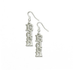 Sterling Silver Name Earrings product photo
