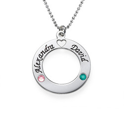 Sterling Silver Circle of Life Personalized Necklace product photo