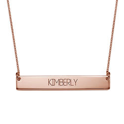 All Capitals Bar Necklace in Rose Gold Plating product photo