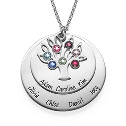 Personalized Family Tree Jewelry - Mothers Birthstone Necklace product photo