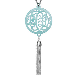 Monogram Necklace with Long Tassel product photo