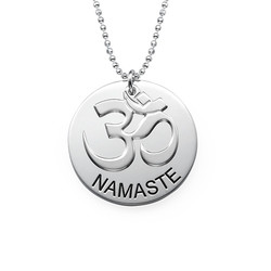 Sterling Silver Engraved Om Necklace product photo