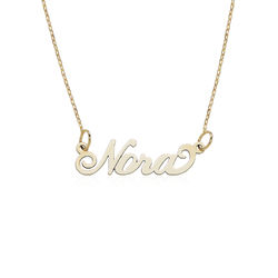 Small 10K Yellow Gold Carrie Style Name Necklace product photo